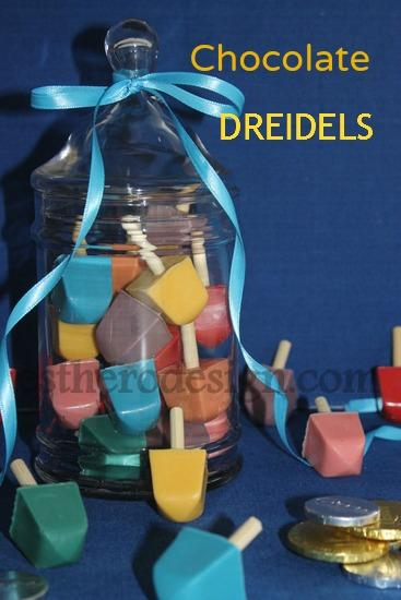 Colorful Chocolate Dreidels