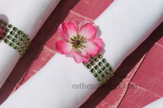 Diamond Wrap Napkin Rings