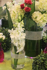 Diamond Wrapped Vases