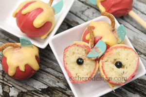 """Dip the Apple in the Honey"" Cake Pops"