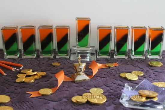 Edible Jello Menorah
