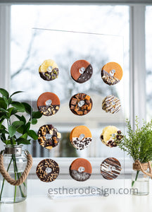 Dried Fruit Donut Wall