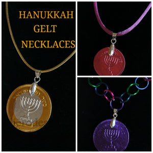 Hanukkah Gelt Necklaces