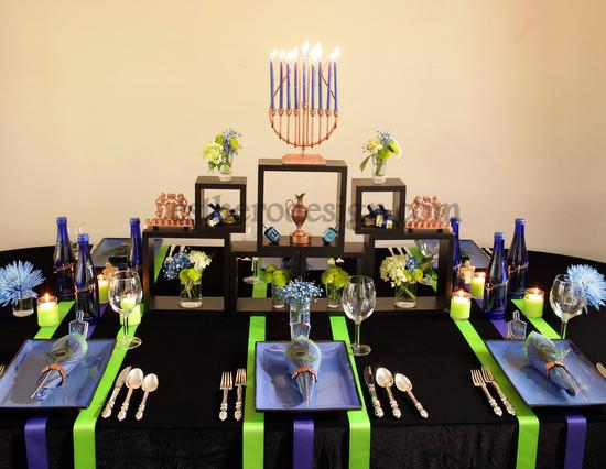 Hanukkah Party Setup