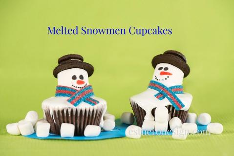 Melted Snowmen Cupcakes