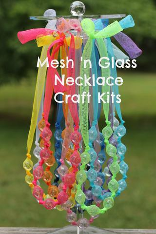 Mesh 'n Glass Necklace Craft Kit