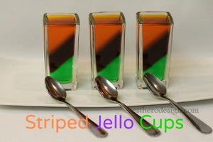 Striped Jello Cups
