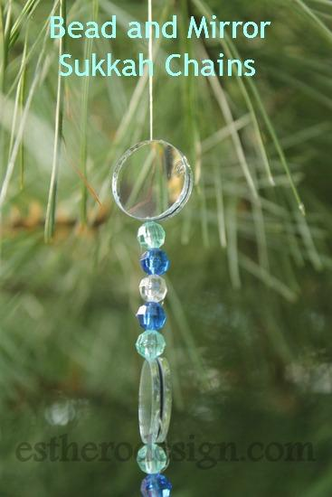 Bead and Mirror Sukkah Chain