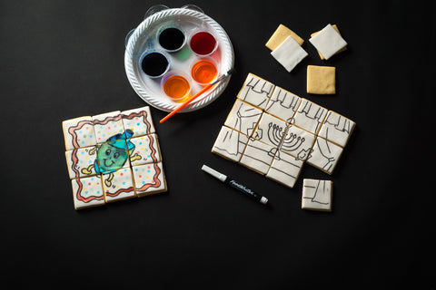 DIY Chanukah Cookie Puzzles