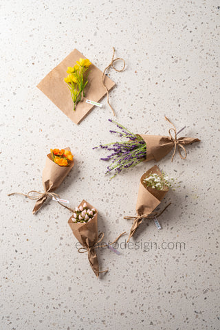 Mini Flower Bouquet seating cards