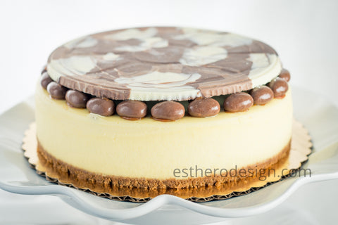 chocolate marble disk topper