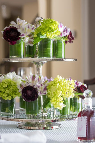 two tier flower stand