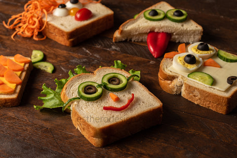 Funny Faced Sandwiches