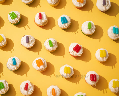 Ice pop cup cakes