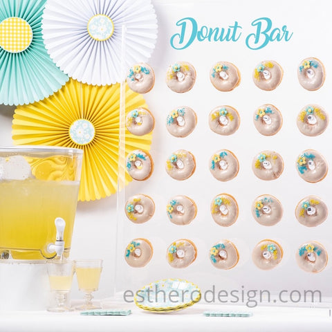 yellow and light blue themed party