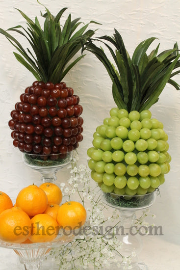 Grape Quot Pineapple Quot Centerpiece Crafts By Esther O