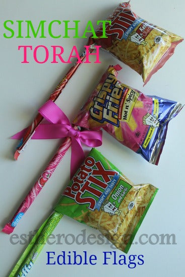 Edible Simchat Torah Flags – Crafts by Esther O