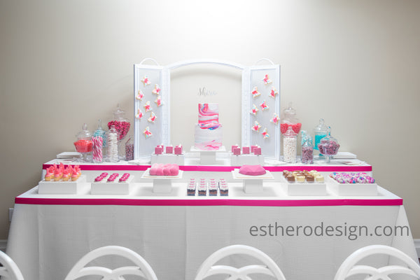 bat mitzvah sweet table