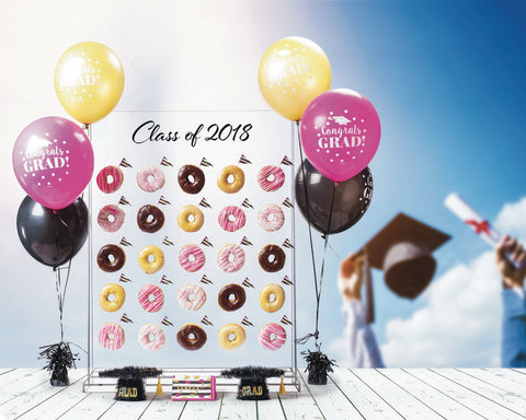 Donut Wall Graduation Theme