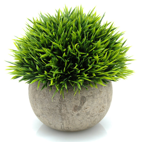 Velener Mini Plastic Fake Green Grass of Plants