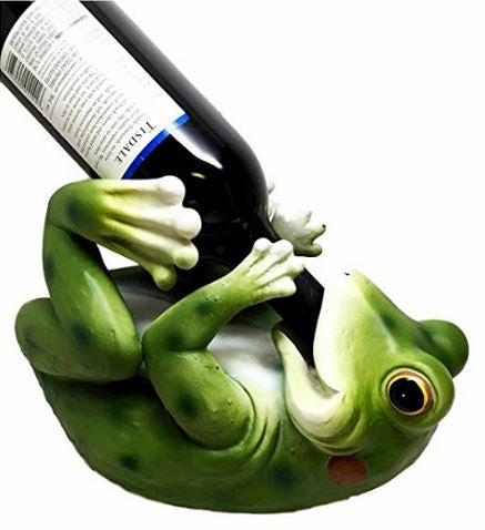 Frog Themed Bottle Holder Lying Down