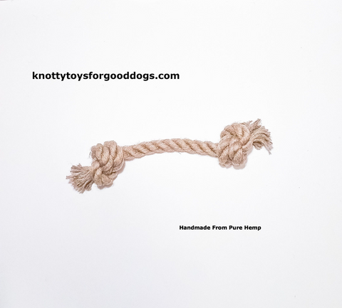 Image of Knotty Toys for Good Dogs xxxx handcrafted natural organic hemp rope dog toy.