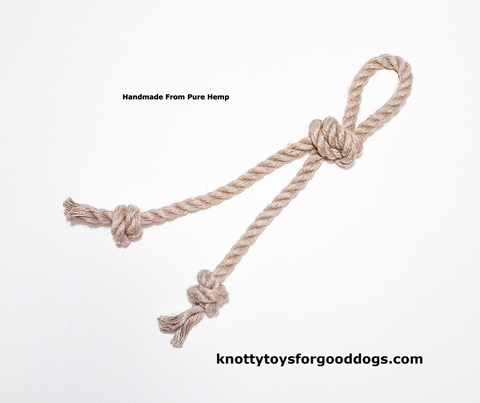 Image of Knotty Toys for Good Dogs Knotty Chaw Chaw handcrafted natural organic hemp rope dog toy.