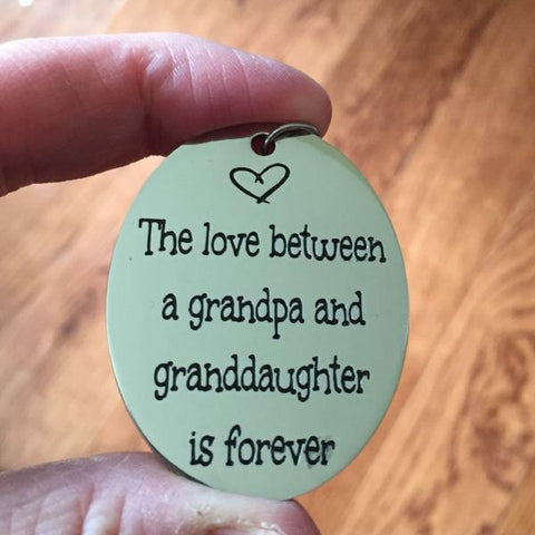The love between a grandpa and granddaughter is forever - Key Chain