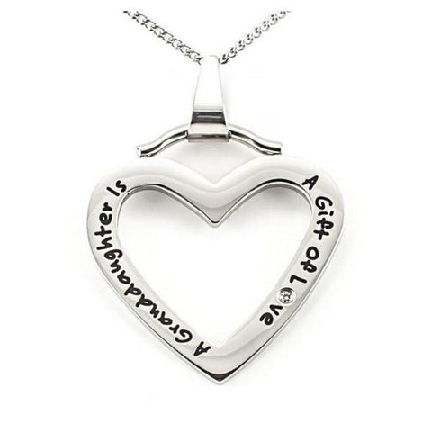 'A Granddaughter is a Gift of Love' Pendant Necklace