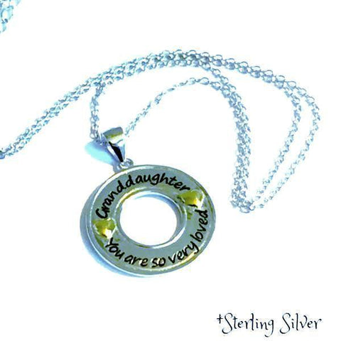 Sterling Silver Granddaughter, You are so very loved - Necklace