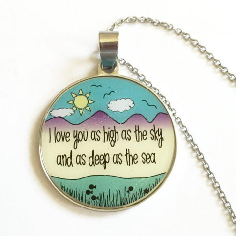 High as the Sky,  Deep as the Sea - Color Necklace