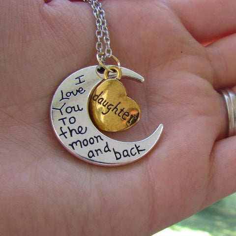 Daughter, I love you to the moon and back - Necklace Treasure