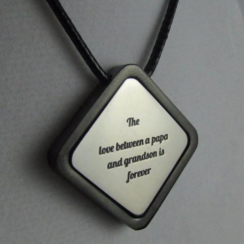 The Love Between a Papa and Grandson is Forever - Necklace