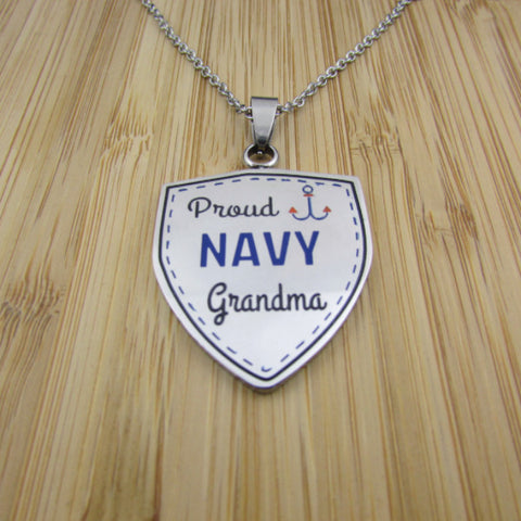 Proud Navy Grandma - Necklace
