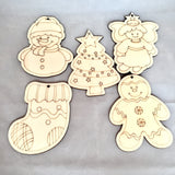 Wooden Christmas Ornament Activity Kit