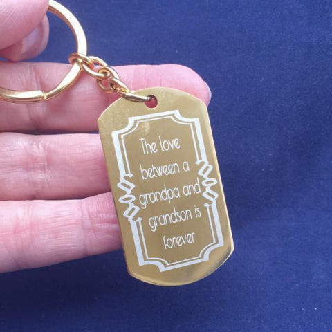 The Love Between a Grandpa and Grandson is Forever - Key Chain