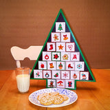 Countdown to Christmas Wooden Christmas Tree Advent Calendar