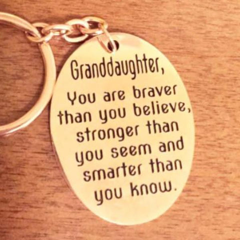 Granddaughter, you are braver than you believe... - Key Chain