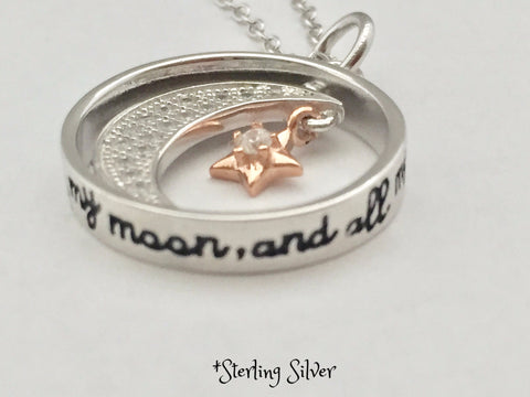 Sterling Silver - You are My Sun, My Moon, and All of My Stars - Necklace
