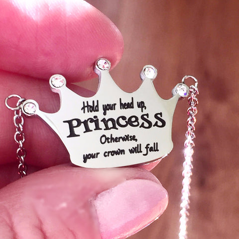Hold Your Head Up - Princess Crown Necklace