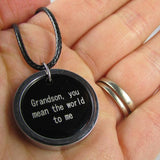 Grandson, You Mean the World To Me - Necklace