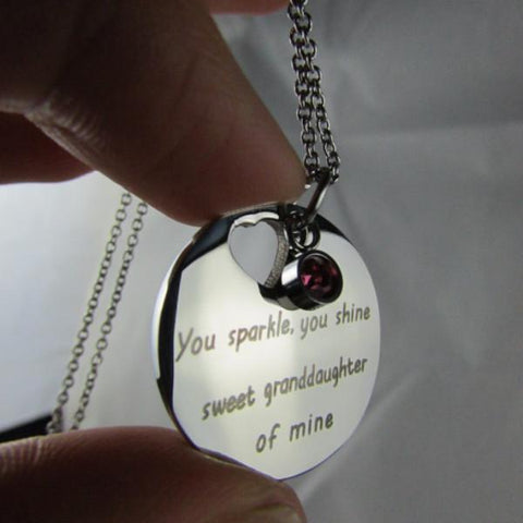 You Sparkle, You Shine, Sweet Granddaughter of Mine - Necklace Collection