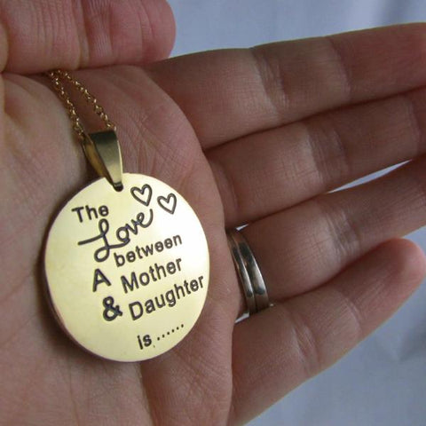 The Love Between a Mother and Daughter is Foverever & Ever - Necklace