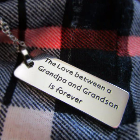 The Love Between a Grandpa and Grandson is Forever - Necklace