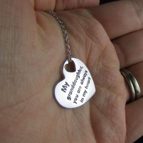 My Granddaughter You Are Always In My Heart - Necklace