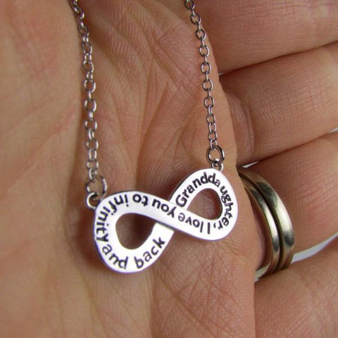 Granddaughter, I Love You to Infinity and Back - Necklace
