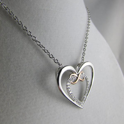 Double Infinity Heart - Necklace