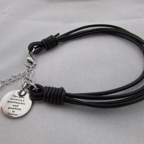The Love Between a Grandmother and Grandson is Forever - Bracelet
