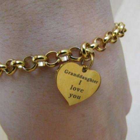 Granddaughter, I Love You - Bracelet