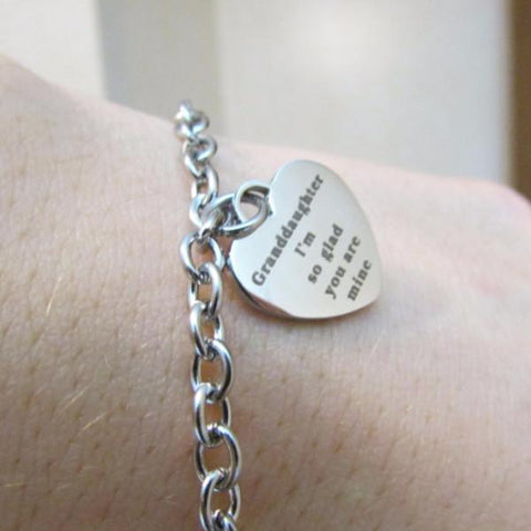Granddaughter, I'm So Glad You're Mine - Bracelet (One time Offer)